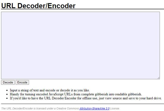 URL Encoder Dan Decoder Offline