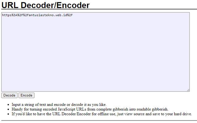 URL Sebelum Didecode