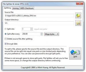 Fastest File Splitter and Joiner (FFSJ)