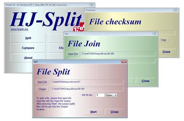 Aplikasi Freeware HJSplit