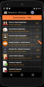 Duplicate Contact And Utilities