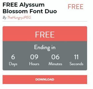 Font Alyssum Blossom Font Duo