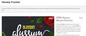 Halaman Download Font Premium Gratis