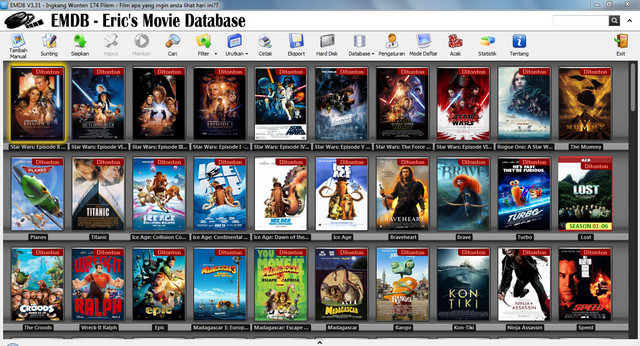 Aplikasi Eric's Movie Database