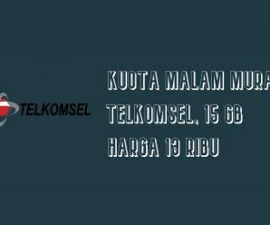 Kuota Malam Murah Telkomsel, 15 GB Harga 13 Ribu
