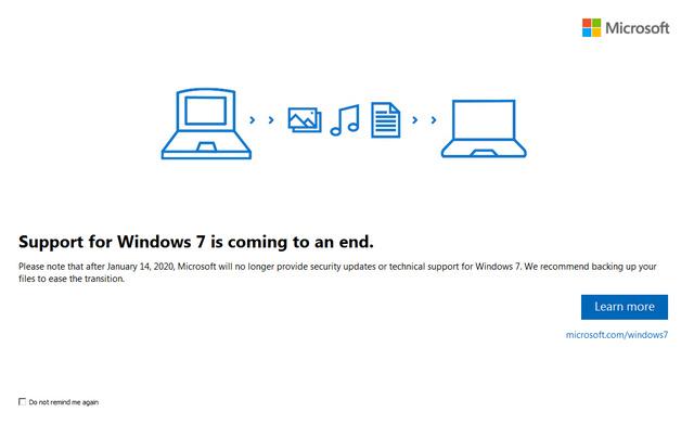 Dukungan Windows 7 Berakhir