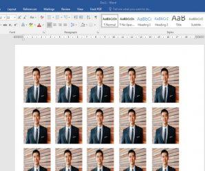 Cara Cetak Pas Foto Berbagai Ukuran Di Microsoft Word