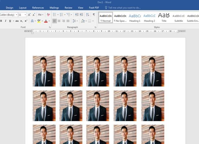 Cetak Pas Foto Di Microsoft Word