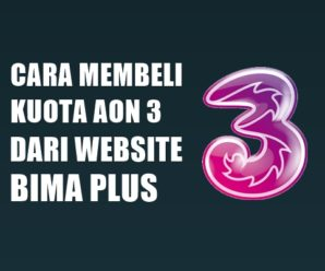 Cara Membeli Kuota AON 3 Dari Website Bima Plus
