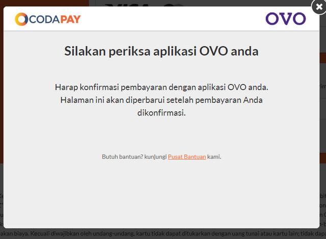 Konfirmasi Pembelian Voucher Google Play Ke OVO Di Coda Shop