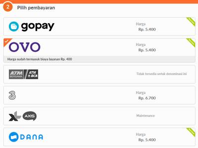 Pilihan Pembayaran Pada Website CodaShop