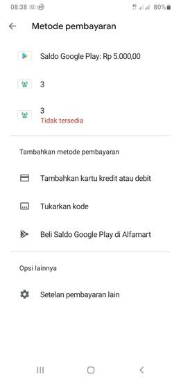 Saldo Google Play Bertambah