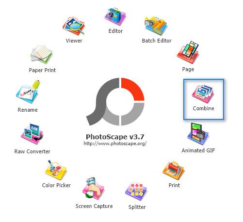 Aplikasi Photoscape Menu Combine