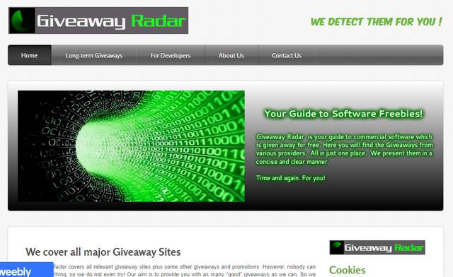 Website Giveaway Radar