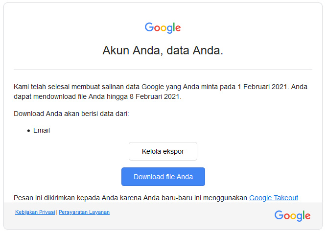 Email Data Backup Email Google Takeout