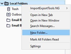 Membuat Folder Email Di Thunderbird
