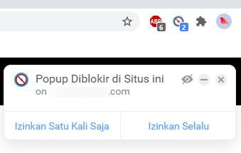 Iklan Popup Berhasil Di Blokir