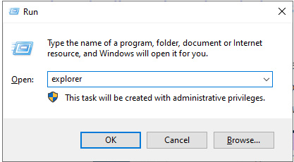Menjalankan File Explorer Dari Run