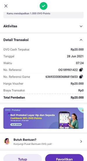 Detail Transaksi Pembelian Kode Voucher Google Play